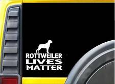 Rottweiler Lives Matter Sticker k196 6 inch rescue dog decal