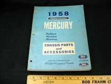 1958 MERCURY Car Chassis Parts Book Catalog Illustrated CDN