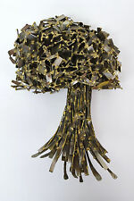 Vintage Modern Brutalist Metal Sculpture Abstracted Tree Chicago Art Bitterman