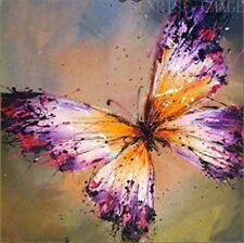 """OP136 1PCS PURE Hand painted Oil Painting On Canvas Butterfly (NO Frame) 20""""x20"""""""