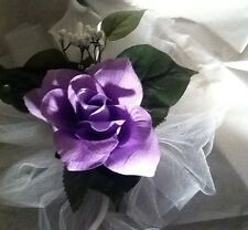 20 Wedding Pew Bows White CALA Lilies And Lilac Roses