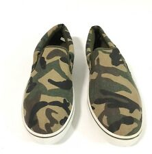 Clean �� GENERIC Classic Slip On Camo Olive Green Sz 9  Style Off The Wall