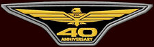 """HONDA GOLDWING 40 ANN. XL EMBROIDERED BACK PATCH~11-3/4""""x3-1/2"""" MOTORCYCLE BIKE"""