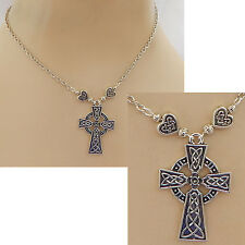 Silver Celtic Cross Pendant Necklace Jewelry Handmade NEW Adjustable Fashion