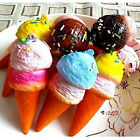 Cute Cell phone Charms Kawaii Ice cream Squishy with Sprinkls Bag Pendant EF