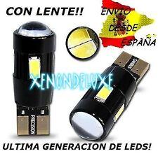 2X BOMBILLAS 6 LED 5630 T10 W5W CANBUS CON LENTE BLANCO PURO ULTIMA GENERACION