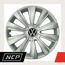 """4 Stück Radkappen in 14"""" 14 Zoll Silber Emblem 3D VW VOLKSWAGEN Radzierblenden D"""