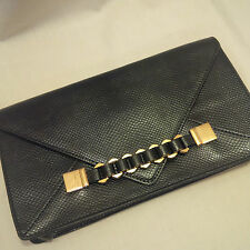 Aldo Black with Gold Chain Clutch Purse