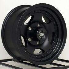 16 Inch Black Wheels Rims Ford F150 E150 Van Dodge Ram Truck Jeep CJ 5x5.5 Lug 4