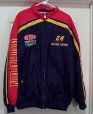 NASCAR JEFF GORDON Dupont Two Time Champion 24 Hase Men's XL 100% Nylon Jacket