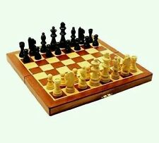 LARGE 29X 29CM BRAND NEW CLASSIC FOLDING WOODEN CHESS SET CHESS BOARD GAME