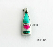 10pcs wine bottle Floating charms For Glass memory Locket Free shipping 1062