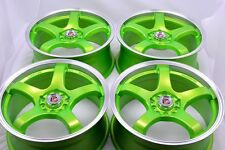 17 Drift green Rims Wheels Camry Beetle Soul Optima Prius V Celica 5x100 5x114.3