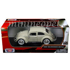 MOTORMAX 73223 1966 66 VW VOLKSWAGEN BEETLE 1/24 DIECAST MODEL CAR BEIGE