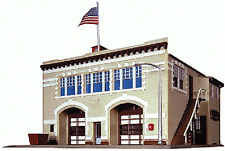 Life-like Firehouse Station kit N scale 433-7483 Walthers model trains structure