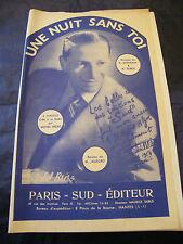 Partition Une nuit sans toi Dorveaux Dubus Bréro 1955 Music Sheet