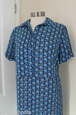 size 10 blue mix chiffon shirt dress from dorothy perkins brand new