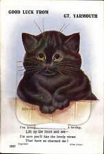 Louis Wain Cat. Good Luck from Great Yarmouth Pull-Out # 1387 by Valentine's.