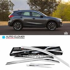 Chrome Window Visor Sun Guard Wind Rain Shield For Mazda CX-5 2014~2016+