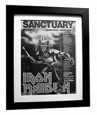 IRON MAIDEN+Sanctuary+TOUR+POSTER+AD+RARE+ORIG 1980+FRAMED+EXPRESS GLOBAL SHIP 2
