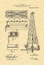Patent Print - Oil Drilling Rig 1916 Art Print. Ready To Be Framed!