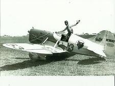 "VINTAGE GEE BEE D #53 - NC11043 B&W 5"" X 7"" RACING AIRPLANE PHOTOGRAPH  PRINT"