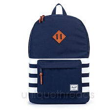 HERSCHEL SUPPLY CO. Peacoat Offset Stripe HERITAGE BACKPACK