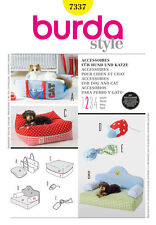 Sew & Make Burda 7337 SEWING PATTERN - Dog Cat Pet BEDS CUSHION TOYS ACCESSORIES