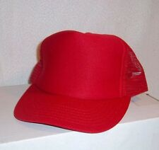 12  RED BASEBALL CAPS/HATS ( 1 DOZEN)