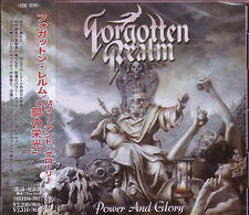 FORGOTTEN REALM Power and Glory + 1 Japan CD Hawk Destiny's End Agent Steel
