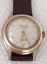 1950's Vintage 17 Jewel Baylor Automatic Sweep Second Wrist Watch