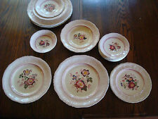 18 pc vintage dinnerware Mason's Paynsley pink plates & bowls