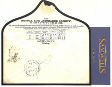 MS2677 1851 GB EARLY ADVERTISING ENVELOPE *Mutual Life* London TOO LATE Cover