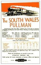The South Wales Pullman Railway Vintage Old Picture Retro Poster A4 Print
