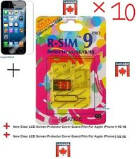 10X★Genuine R-SIM 9 R-SIM9 Sim Unlock Card IPhone 5 5S  5C 4S IOS 5~7 R Simlock