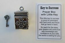 a Key to SUCCESS prayer box miniature key Charm new job promotion ganz graduate