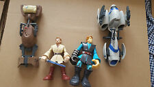 STAR WARS GALACTIC HEROES SPEEDER BIKE & STORMTROOPER SPEEDER & 2 LARGER FIGURES