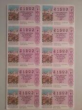 Billete entero Lotería Nacional sorteo 4/1991 (26 de Enero) ARQUITECTURA POPULAR