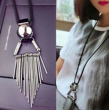 Fashion Women Alloy Tassels Long Chain Pendant Sweater Necklace Jewelry Gift