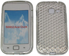 For Samsung Galaxy Ace Duos GT S6802 Pattern Soft Gel Case Protector Cover Clear