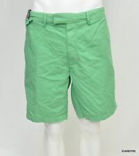 Nwt Polo Ralph Lauren Cotton Flat Front Straight Fit Shorts Pants Green 38