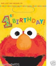 Sesame Street Elmo 1st Birthday Treat Loot Bags 8ct Party Favors Supplies