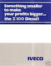 Truck Brochure - Iveco - Z-100 - Chassis Cab Cutaway Diesel 2 items 1980 (TB770)
