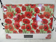Macneil Giftware POPPY DESIGN 4 place mats brand new in box