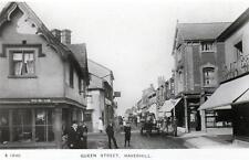 Queen Street Haverhill unused RP old postcard WHS Kingsway (see condition)
