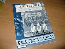 RIVISTA L'ELETTROTECNICA AEI N.9 5/1936 C.G.S. STRUMENTI DI MISURA S.A. MONZA