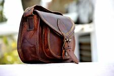 NEW HANDMADE  REAL LEATHER SATCHEL SADDLE BAG RETRO RUSTIC VINTAGE DESIGNER