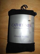 Plus Size Women's, 5X 6X, Black Opaque Footed Tights, NWT's, Catherine's