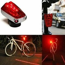 New 5 LED Bicycle Rear Tail Red Bike Torch Laser Beam Lamp Light