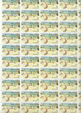 Stamps Australia $5 high value painting SPECIMEN overprint complete sheet 50 MUH